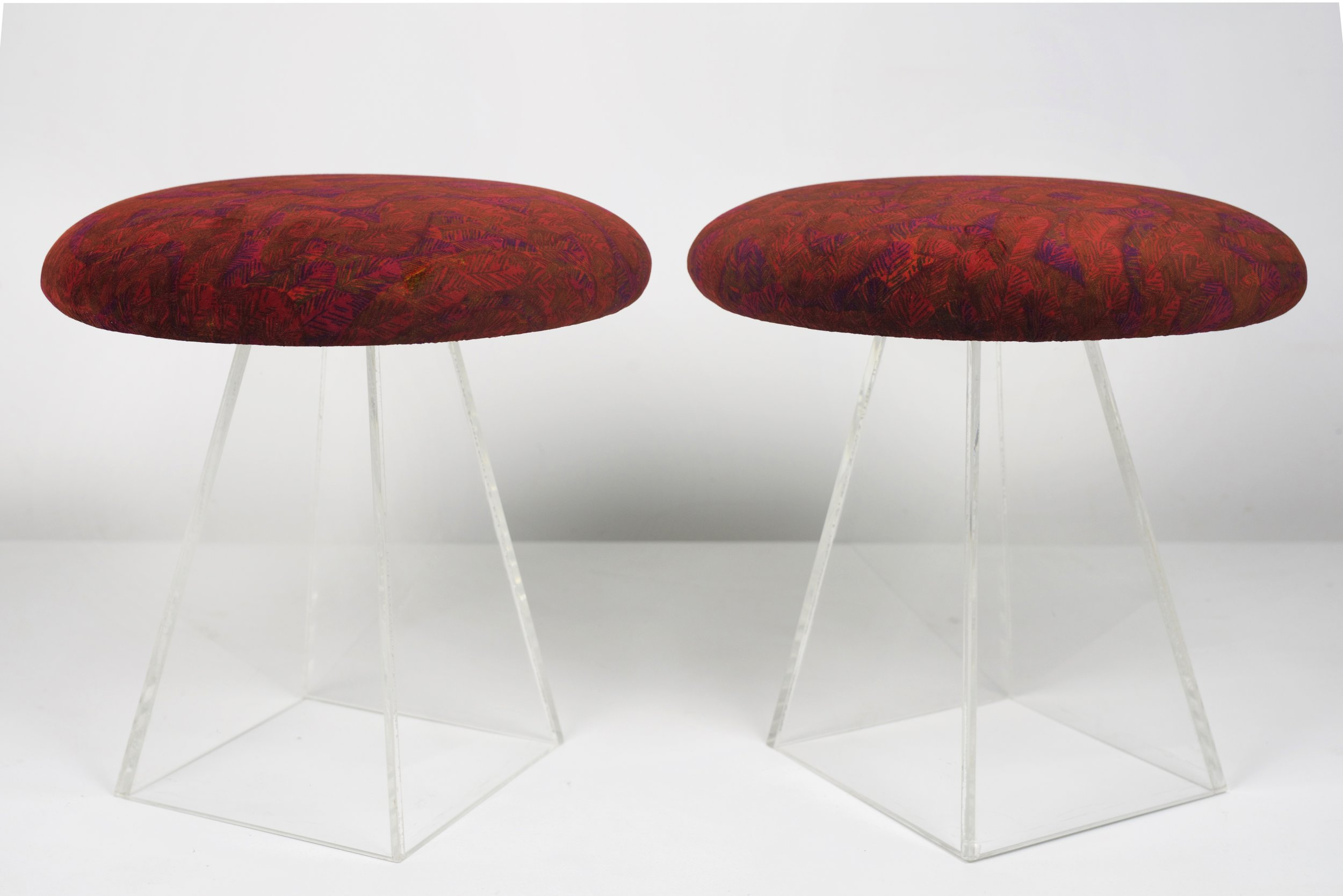 Click here for the 1950s Vladimir Kagan Stools in Jack Lenor Larsen Fabric