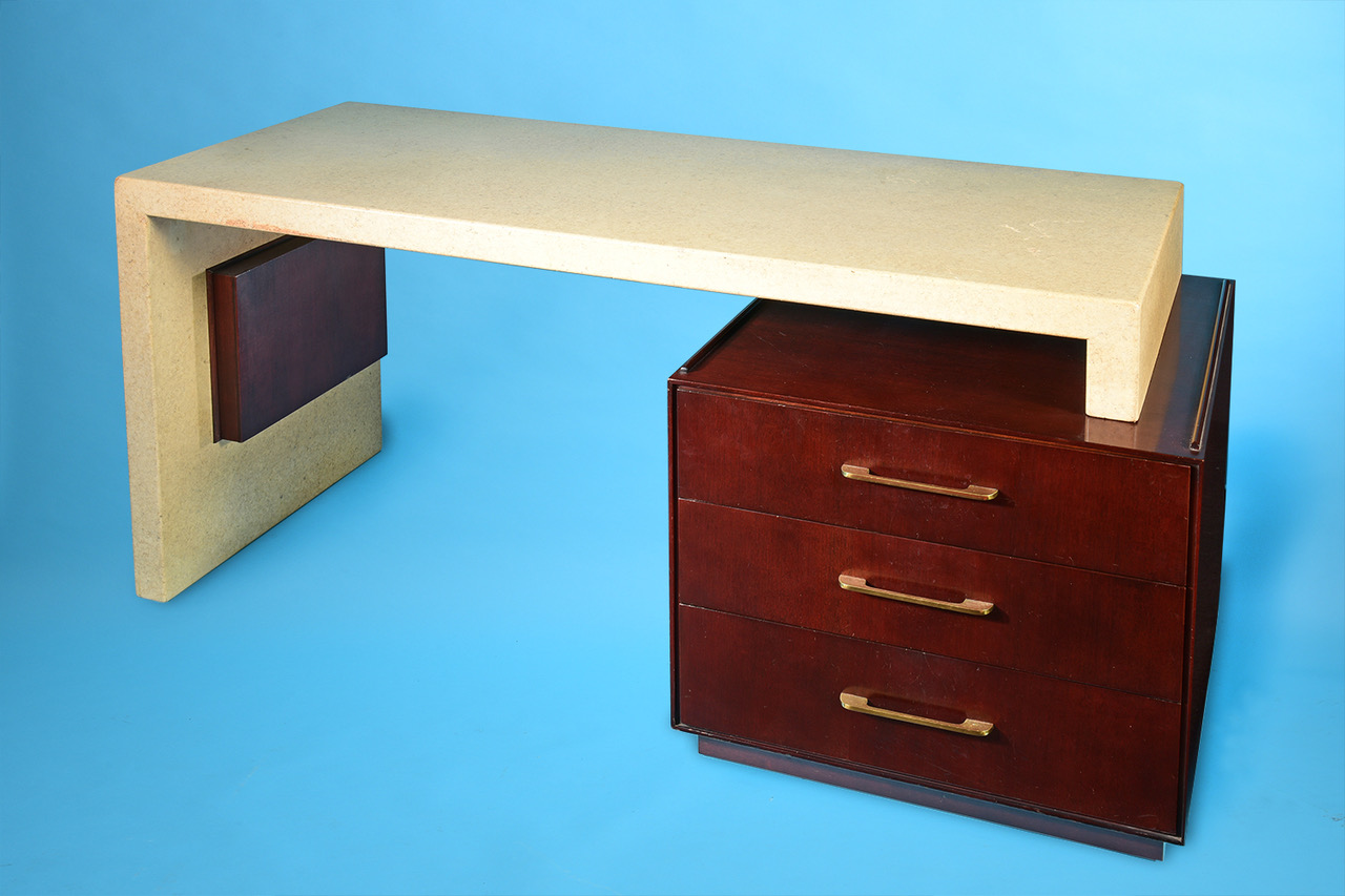 Click here for the 1940s Paul Frankl Cork and Mahogany Desk
