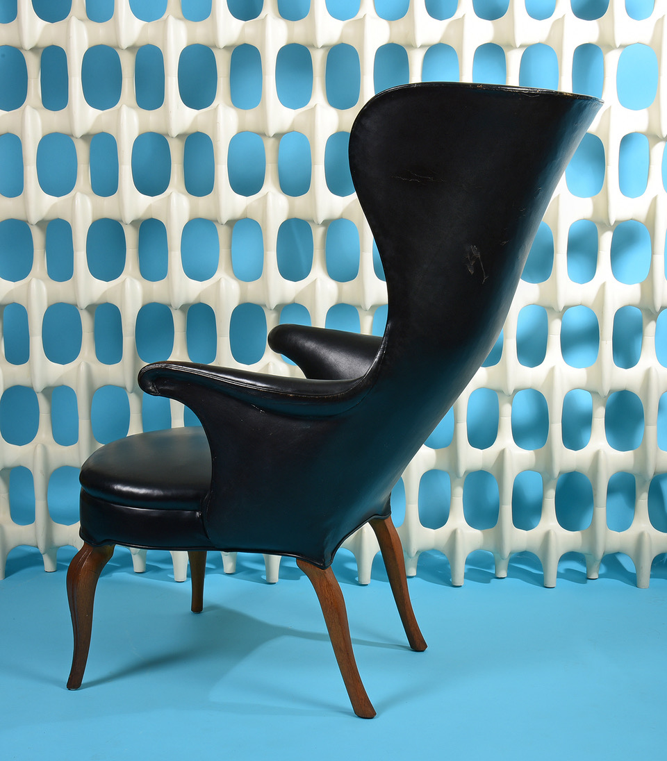 Rare Frits Henningsen Wingback Chair
