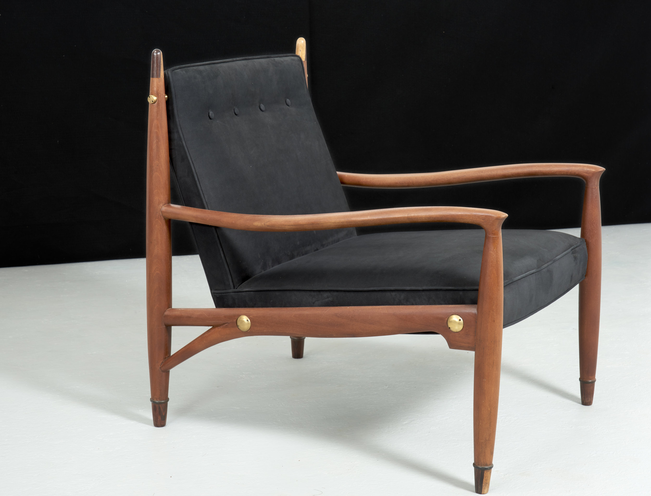 Rare Frank Kyle Lounge Chair, ca. 1950's