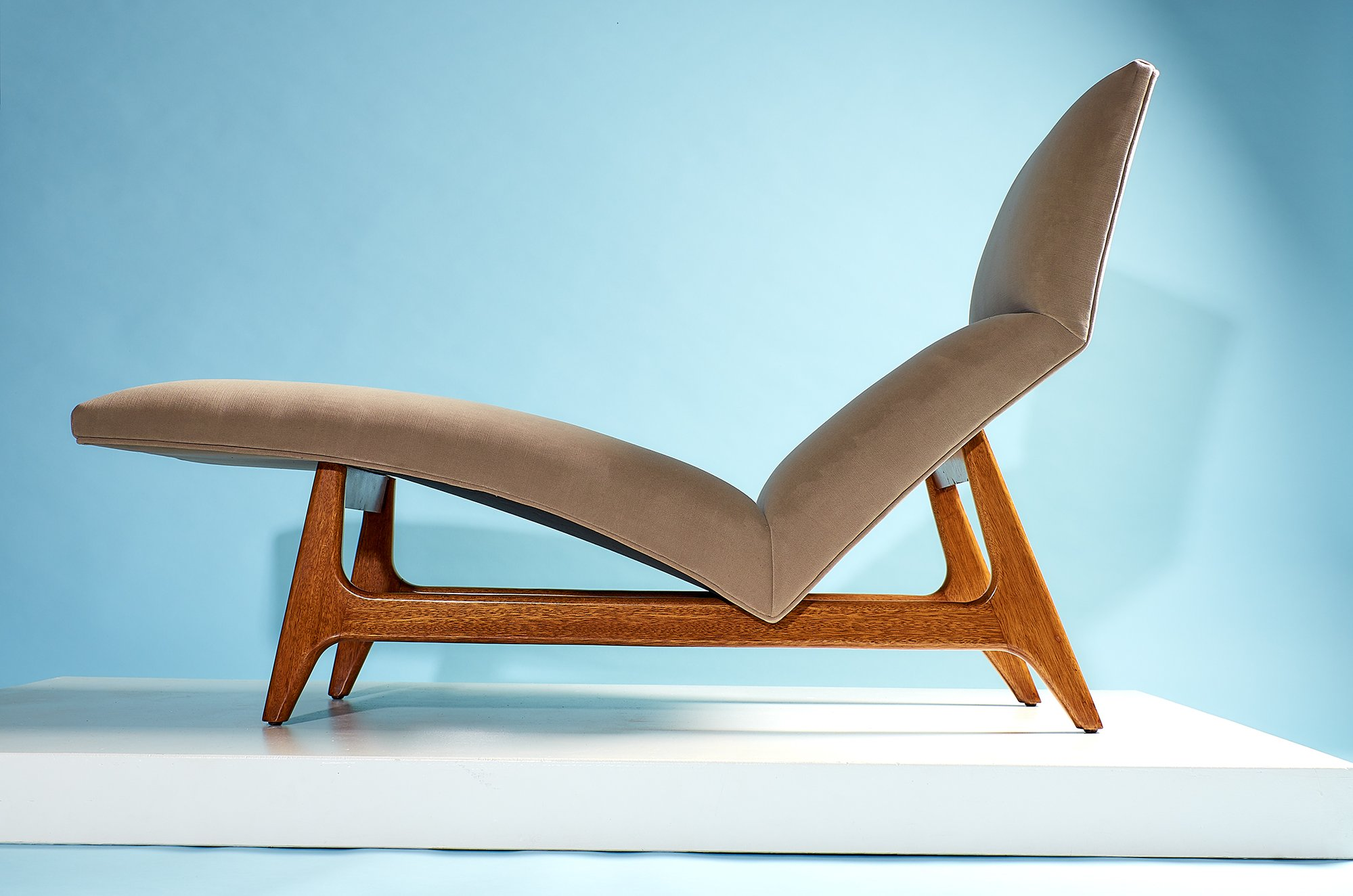Harvey Probber Chaise Lounge, circa 1950's
