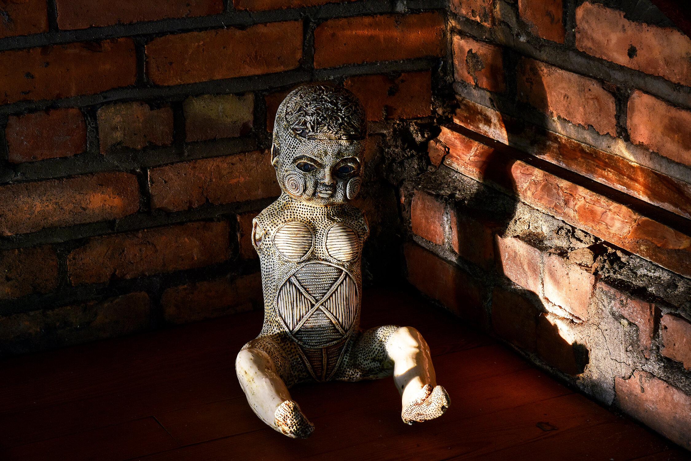 Michelle Oka Doner Tatooed Doll The Space Detroit 1.jpg