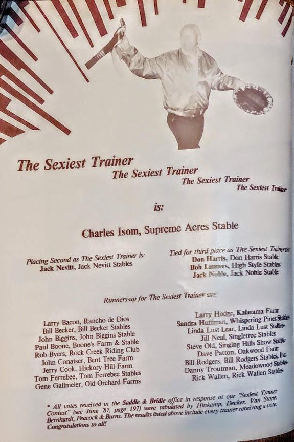 Saddle & Bridle August 1987
