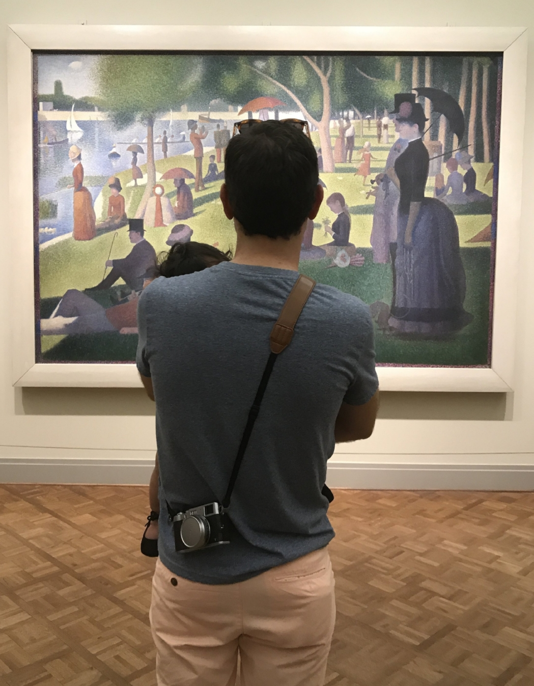 """Myself in front of the famous """"Sunday in the Afternoon on the Island of La Grande Jatte"""""""