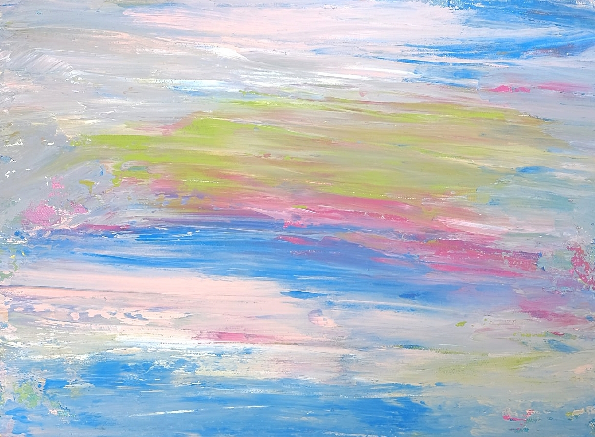 Colored Rain // Acrylic on Stretch Canvas // 8 1/2 x 11