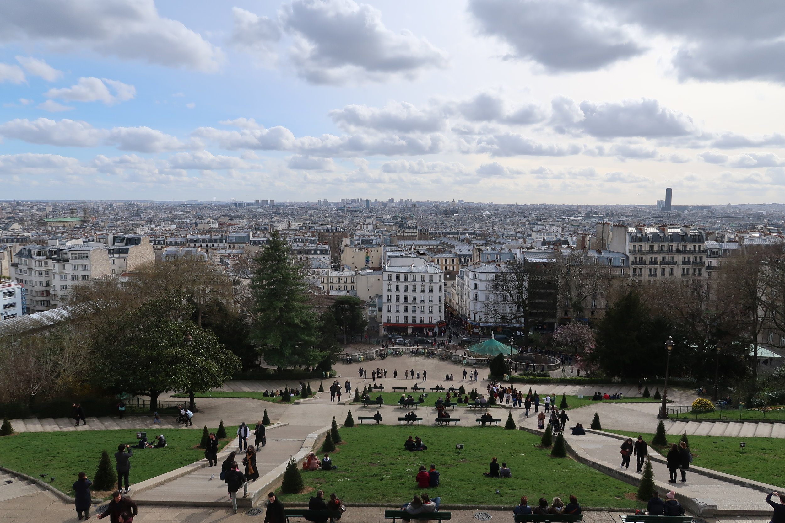 A view from the steps of Sacré-Cœur