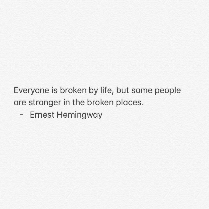 Ernest Hemingway Quote Art