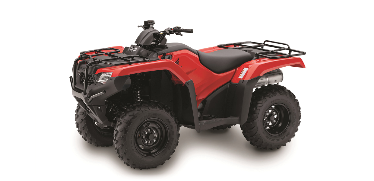 TRX420 FA1 - 420cc, Four-Wheel Drive, Automatic DCTSee the Full SpecificationsArrange a Demo →