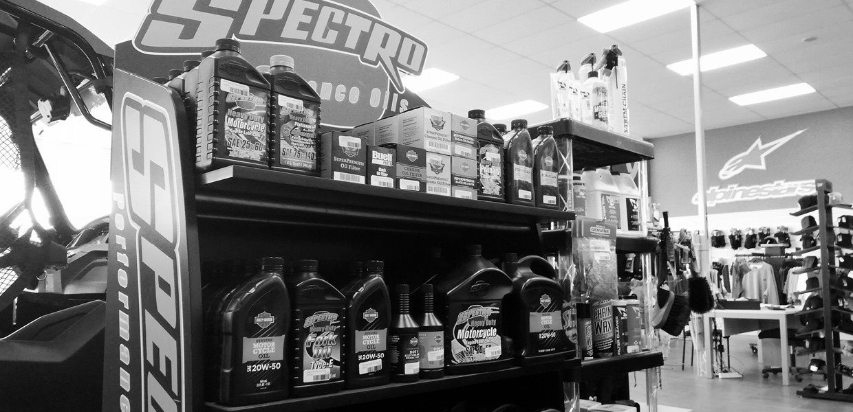 Trusted brands & products - We carry a range of Genuine Harley Davidson, Spectro oils, filter and parts, and have access to the best brands you're familiar with.