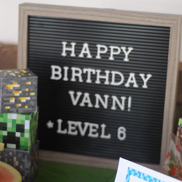 Our boy turns 6 today! We celebrated this weekend with a Minecraft Pool Party! He had a blast with friends and family! • I shared a few more photos on the blog! **Extra credit to my hubs who made the cake of our boy's dreams! • #minecraft #minecraftcake #minecraftbirthdayparty #diy #thankyougodforpinterest