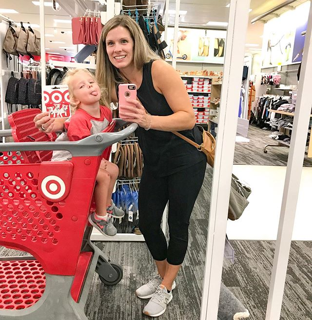 HAPPY FRIDAY FRIENDS! There's a FUN giveaway on @yourenotalonepodcast and it's super easy to enter! Head over there for the details! • #target #targetstyle #targettrip #preworkout #mommyandme #giveaway #ynapodcast #giftcard