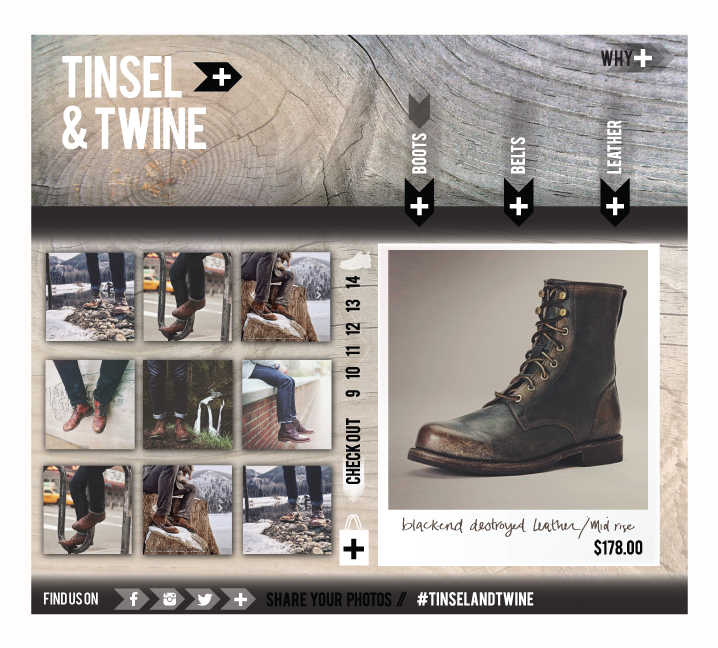 TINSEL & TWINE   website / check-out