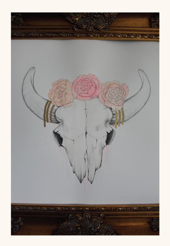 COWSKULL & ROSES