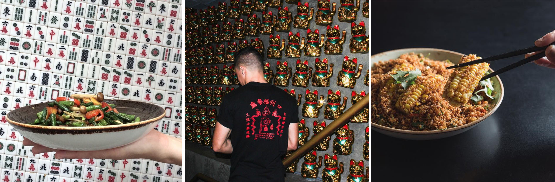 Hands down one of the best places to grab a drink and some grub in Hong Kong.Who doesn't love a wall of lucky cats waving at you as you enter? The head chef describes it as 'a funky Chinese restaurant where people can come eat, and get messed up'.