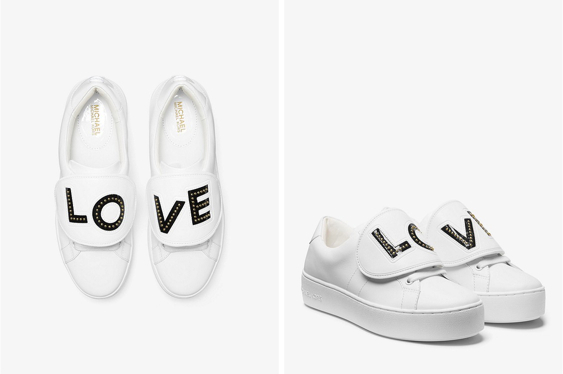 Commitment issues? These sneakers come with removable LOVE patches that snap on and off, you can purchase different ones for different moods. $145: http://bit.ly/2FKyVKw