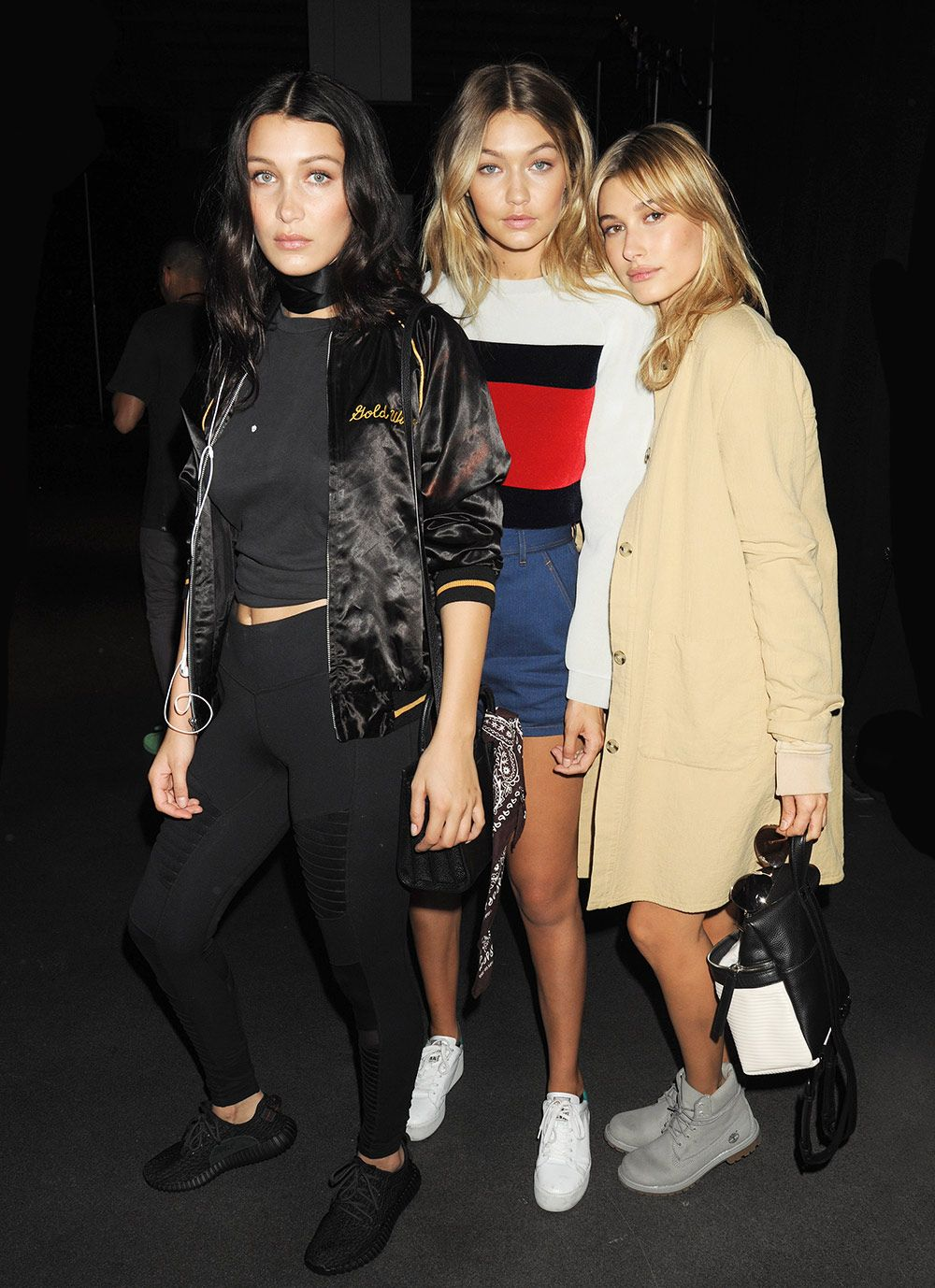 Celebrity offsprings turned models, Bella and Gigi Hadid, with Hailey Baldwin