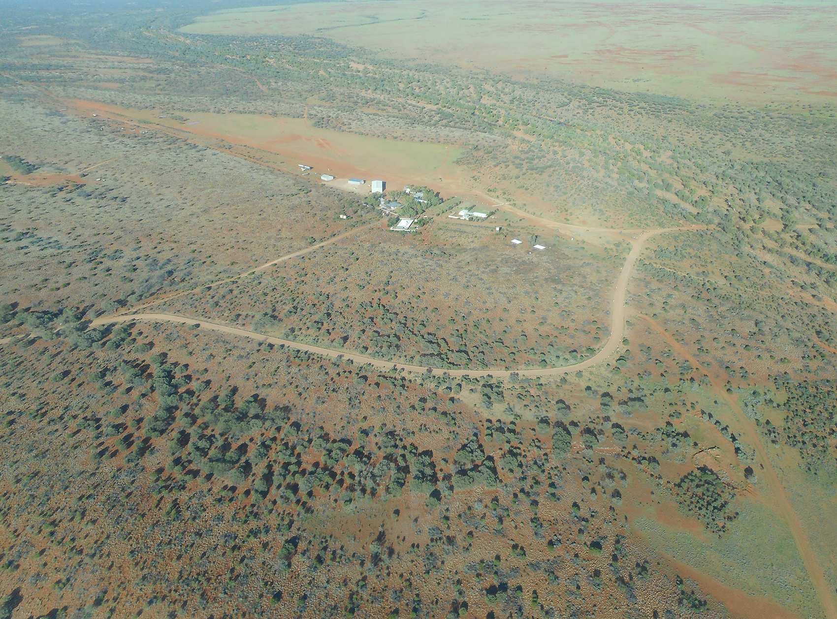 Aerial view of Hamilton Station homestead