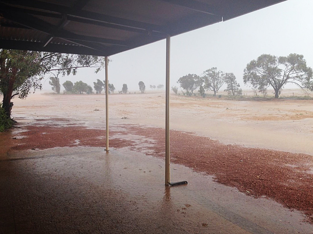 Torrential rain at Mt Barry