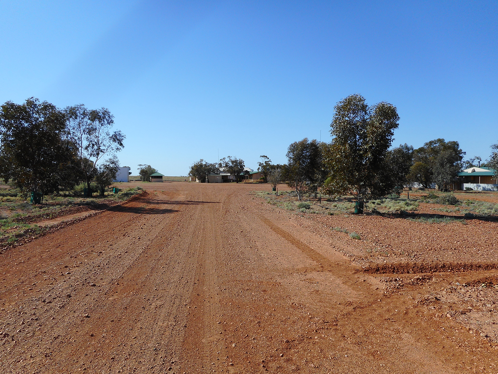 Driveway of Mt Barry Station