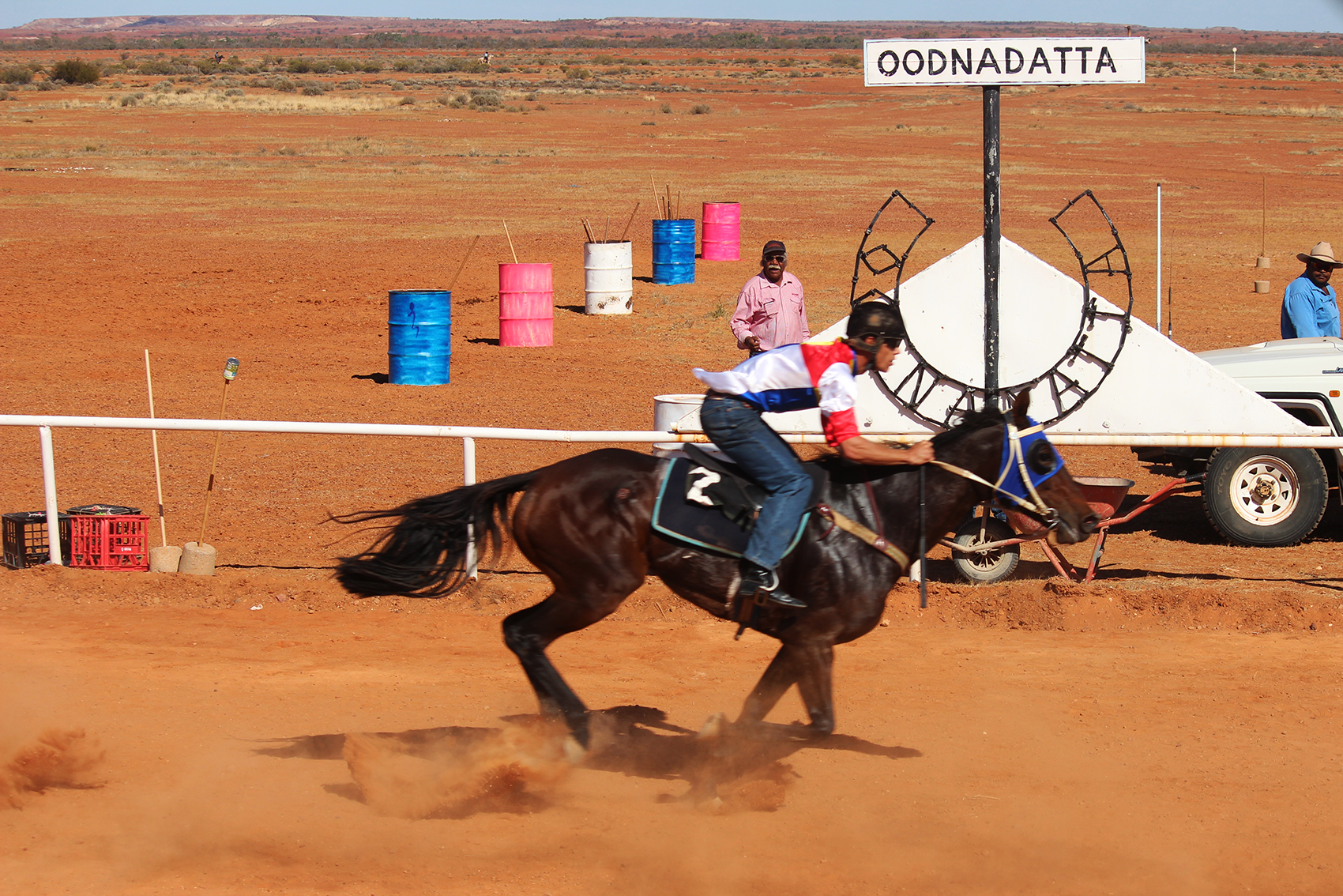Finishing post Oodnadatta