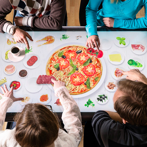 lunch-table-connected-touch-device-wall-pizza-hutt