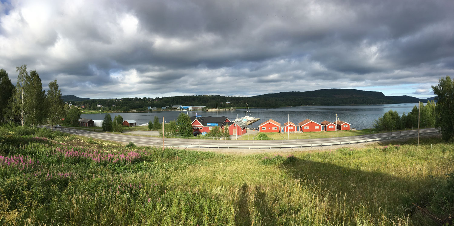 Docksta Havet Base Camp and the Dockstafjärden