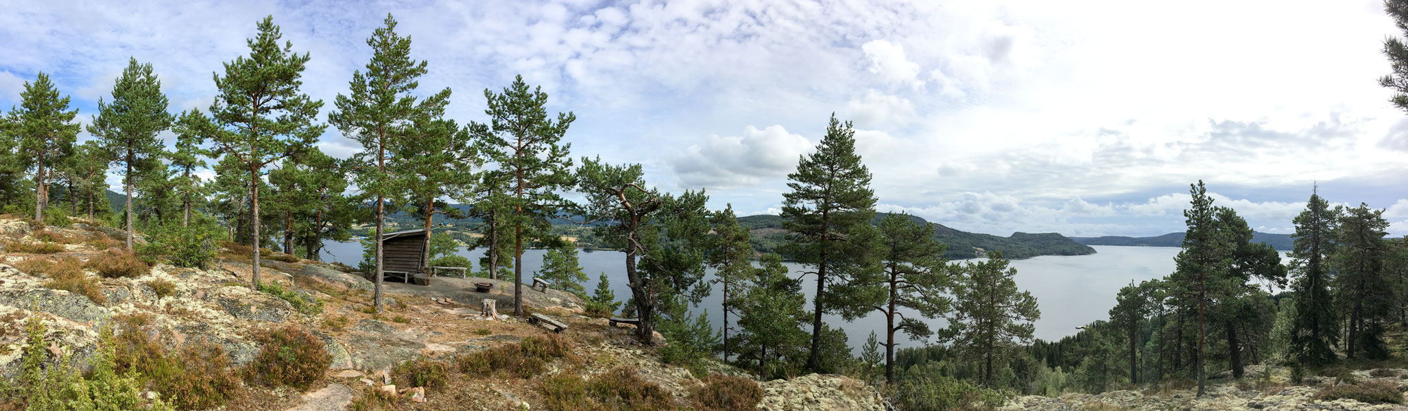 panoramic view of Dockstafjärden from Per Olsbo's shelter (toward south-east)
