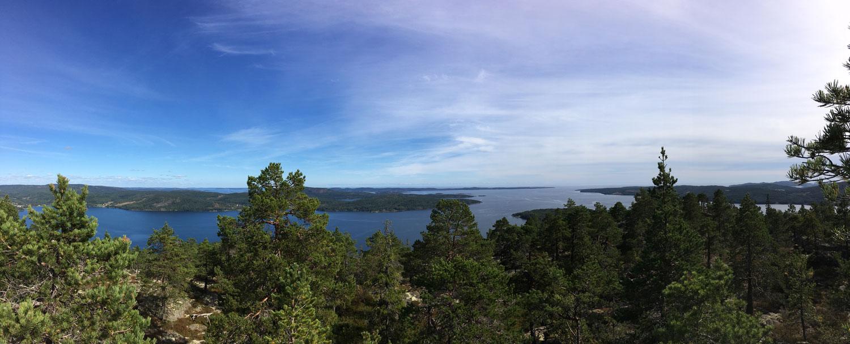 View toward south-east from Vårdkallberget.