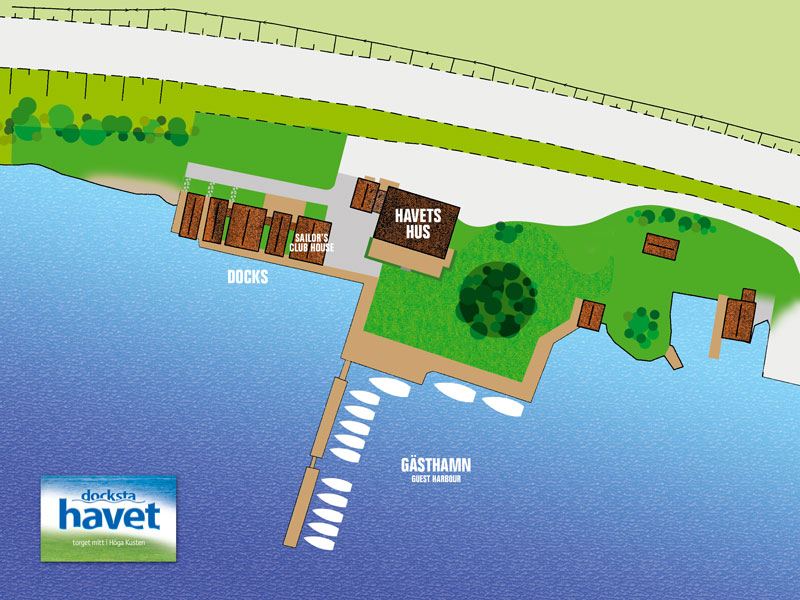 Docksta Havet - map of the area