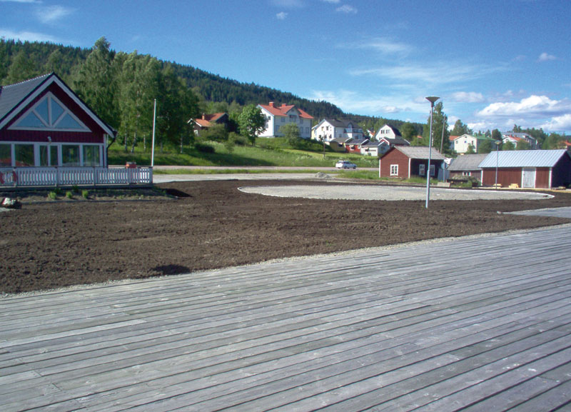 The area receives a new grass pad