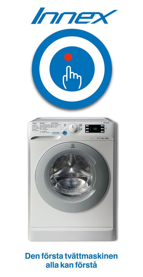 Innex Indesit | Den första tvättmaskinen alla kan förstå