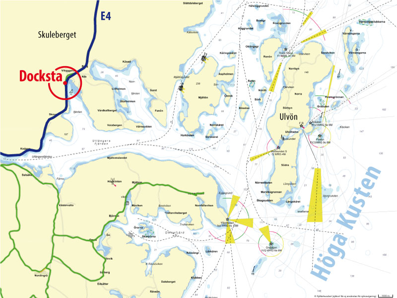 Docksta is located into the most accessible point of the High Coast of Sweden