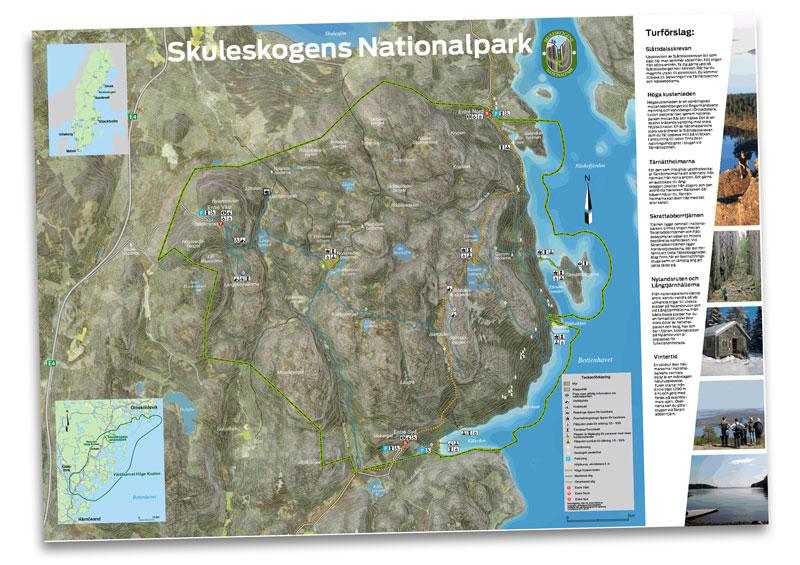 Map of the Skuleskogens Nationalpark