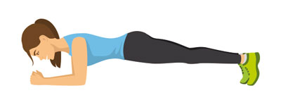 Plank exercise is a perfect exercise for sailors