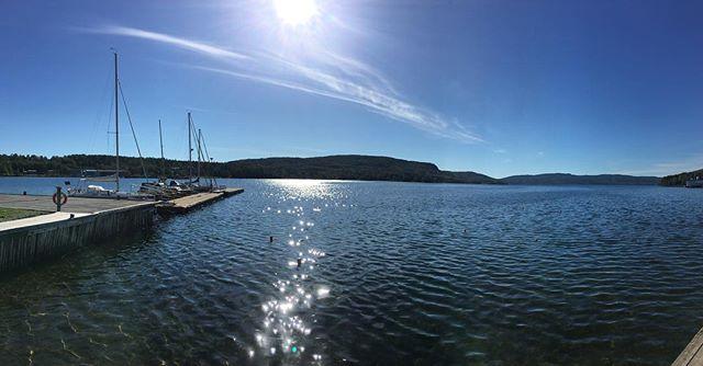 God Morgon! 👋 #fromthepier #seaview #Dockstafjärden #HögaKusten #HighCoast #Docksta #gästhamn #marina #safemooring #DockstaHavet #sailingpassion #🇸🇪 🌬 __/)___ #HighCoastSailor