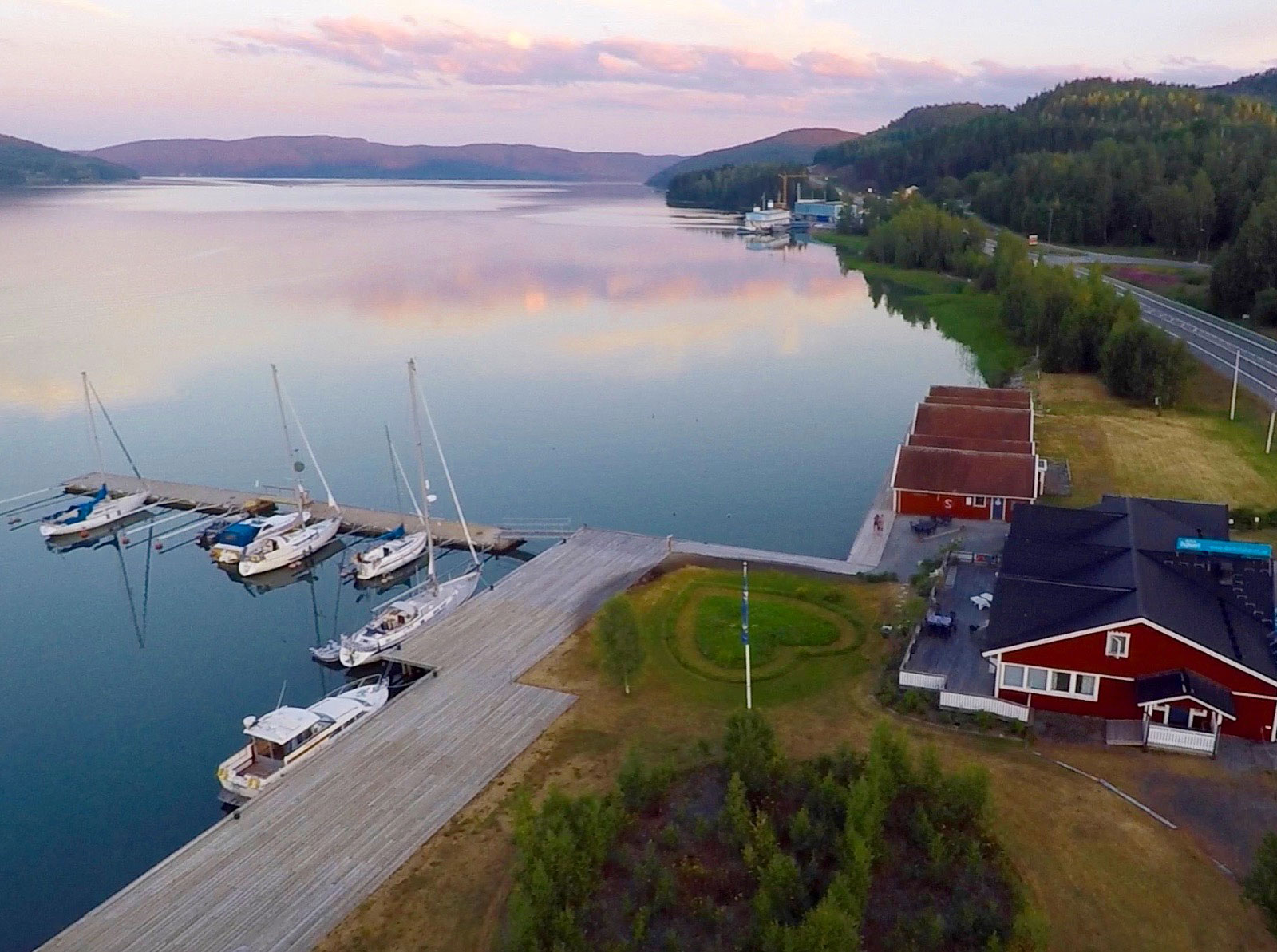 Your boat safely moored to start exploring Skuleskogen and Skuleberget - The Sailor's Base Camp in the heart of the High Coast >