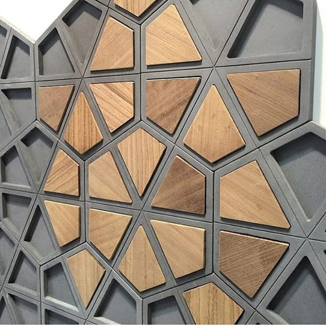 Klok by Tonk! W wood pieces ✨#tonkproject #tonk #concretetiles #concrete