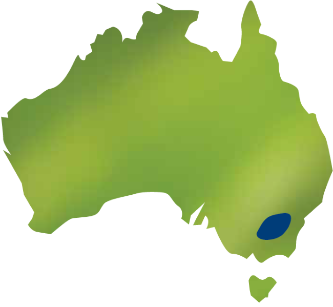 Map of Australia and Riverina region