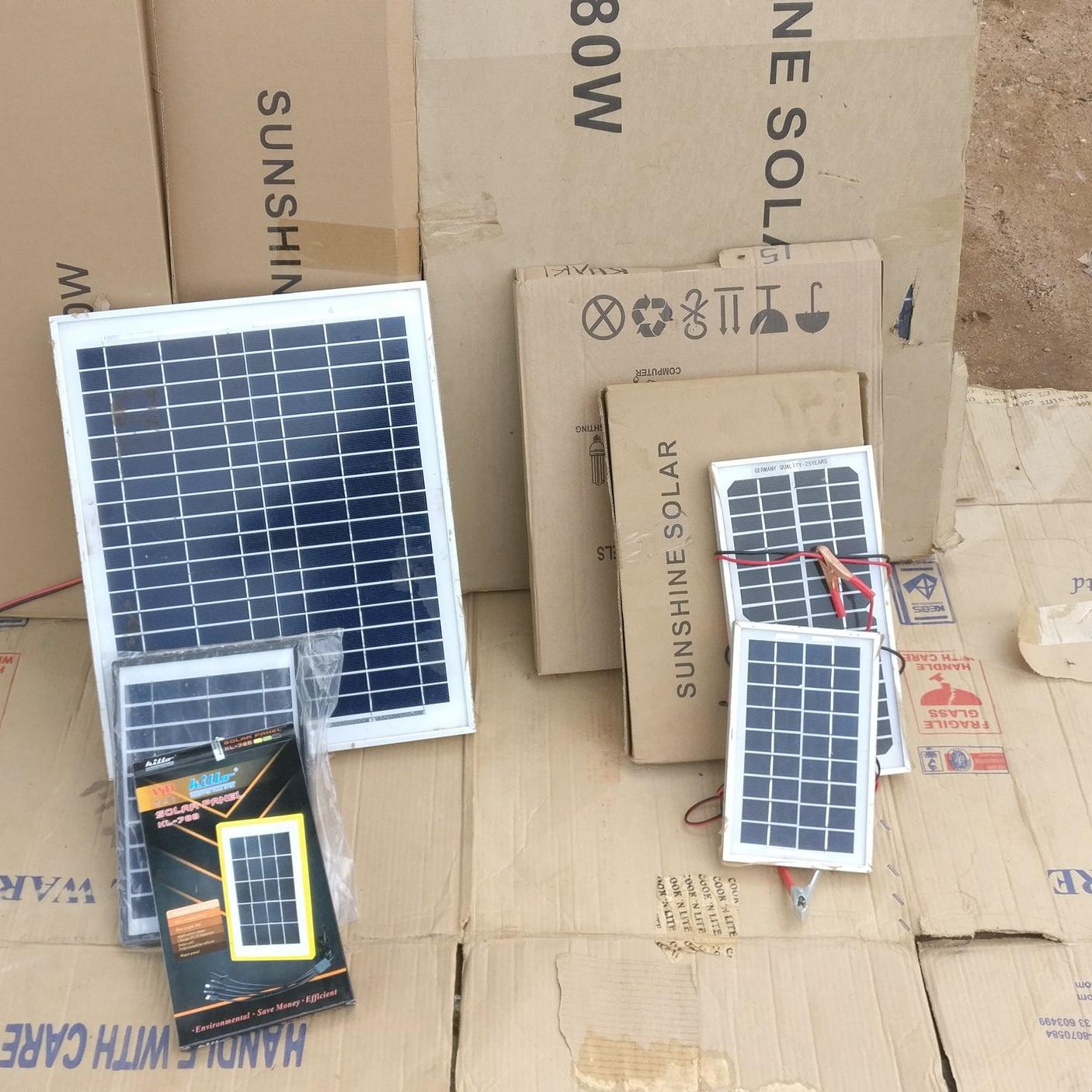 Road-side solar shop in Nkhata Bay, Malawi