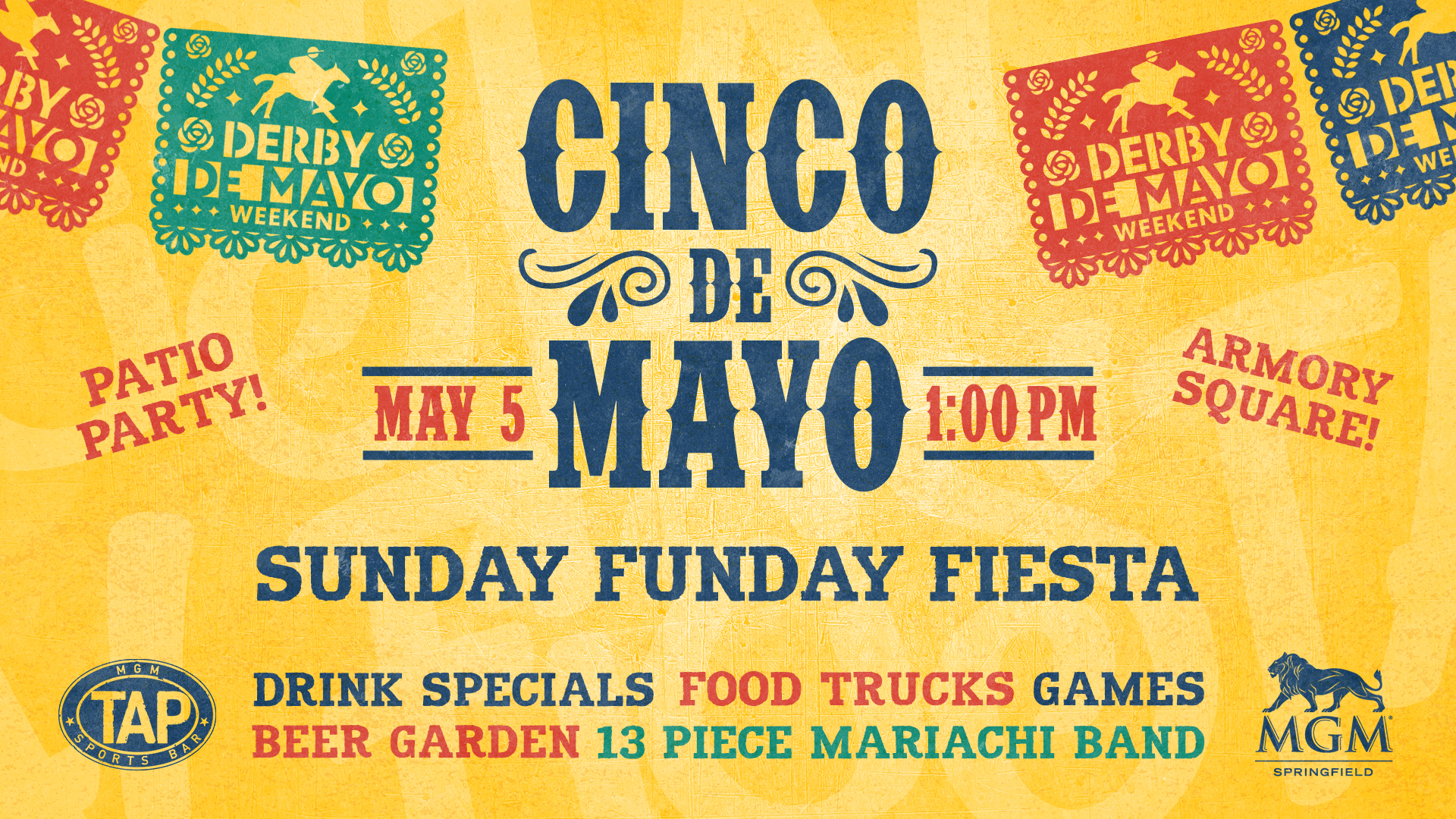 Digital screen used to promote Cinco de Mayo Party