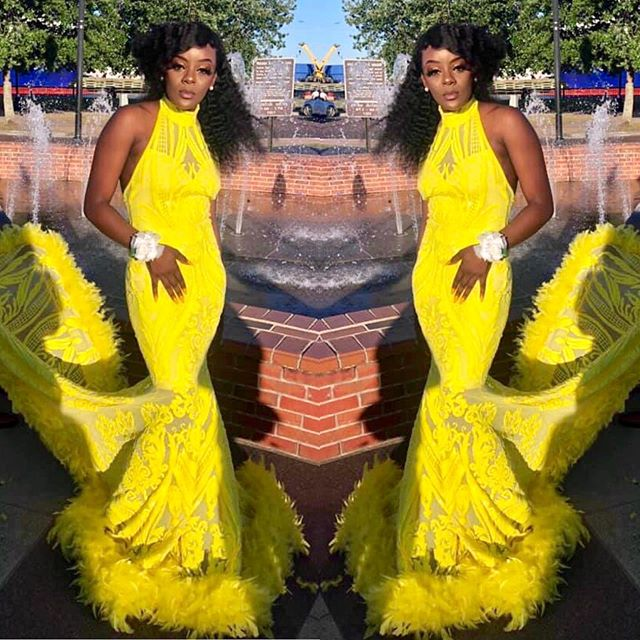 Hello Sunshine 🌞 #prom2019 #yellow #melaninpoppin #blackgirlmagic