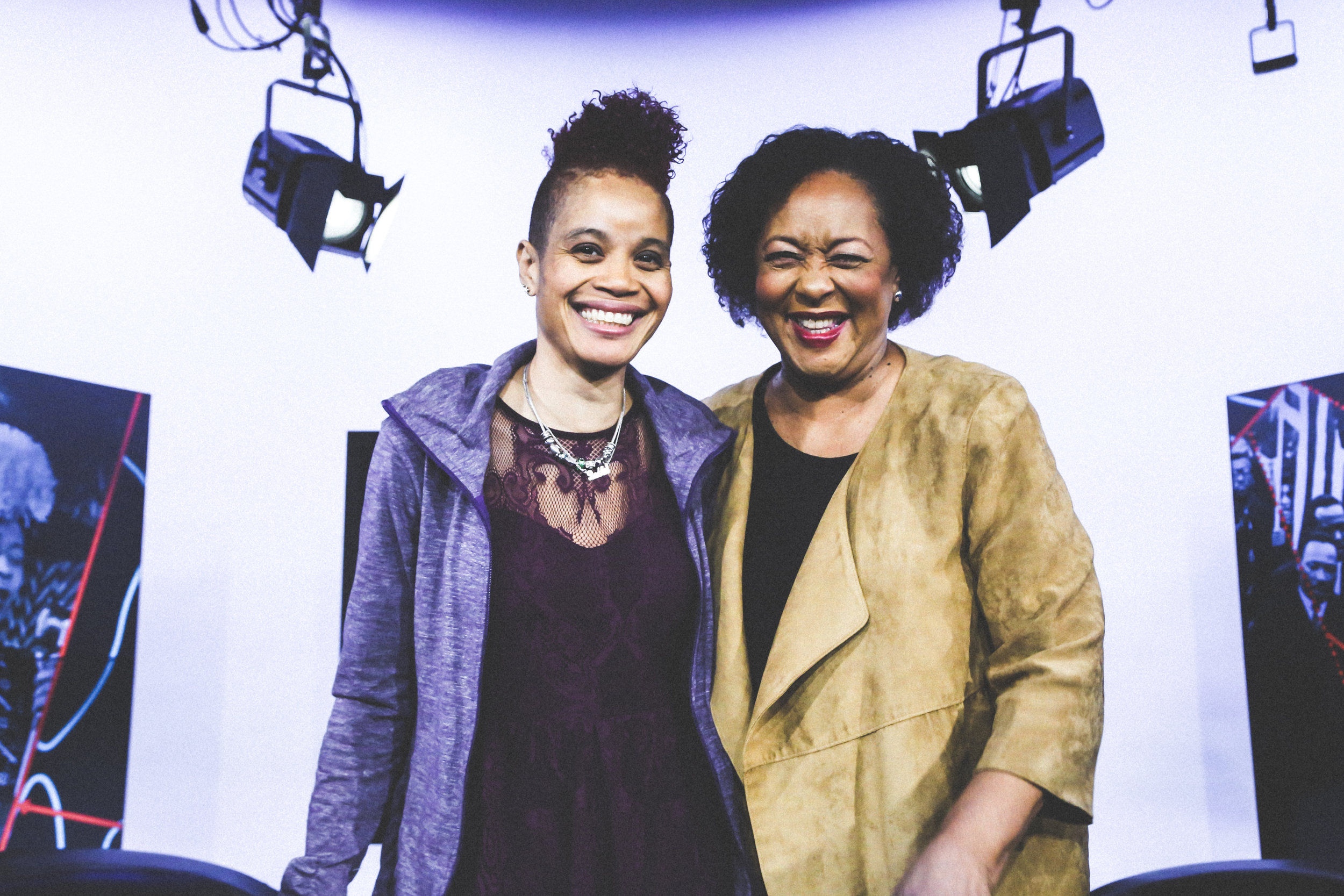 STACEYANN CHIN (left)  Spoken-word poet and activist  CAROL JENKINS (right)  Host for Black America on CUNY-TV   https://youtu.be/LPBNeBj2esE