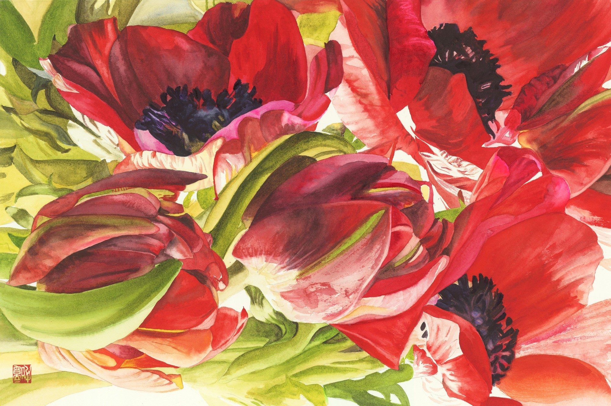 ANEMONES AND TULIPS, 2015