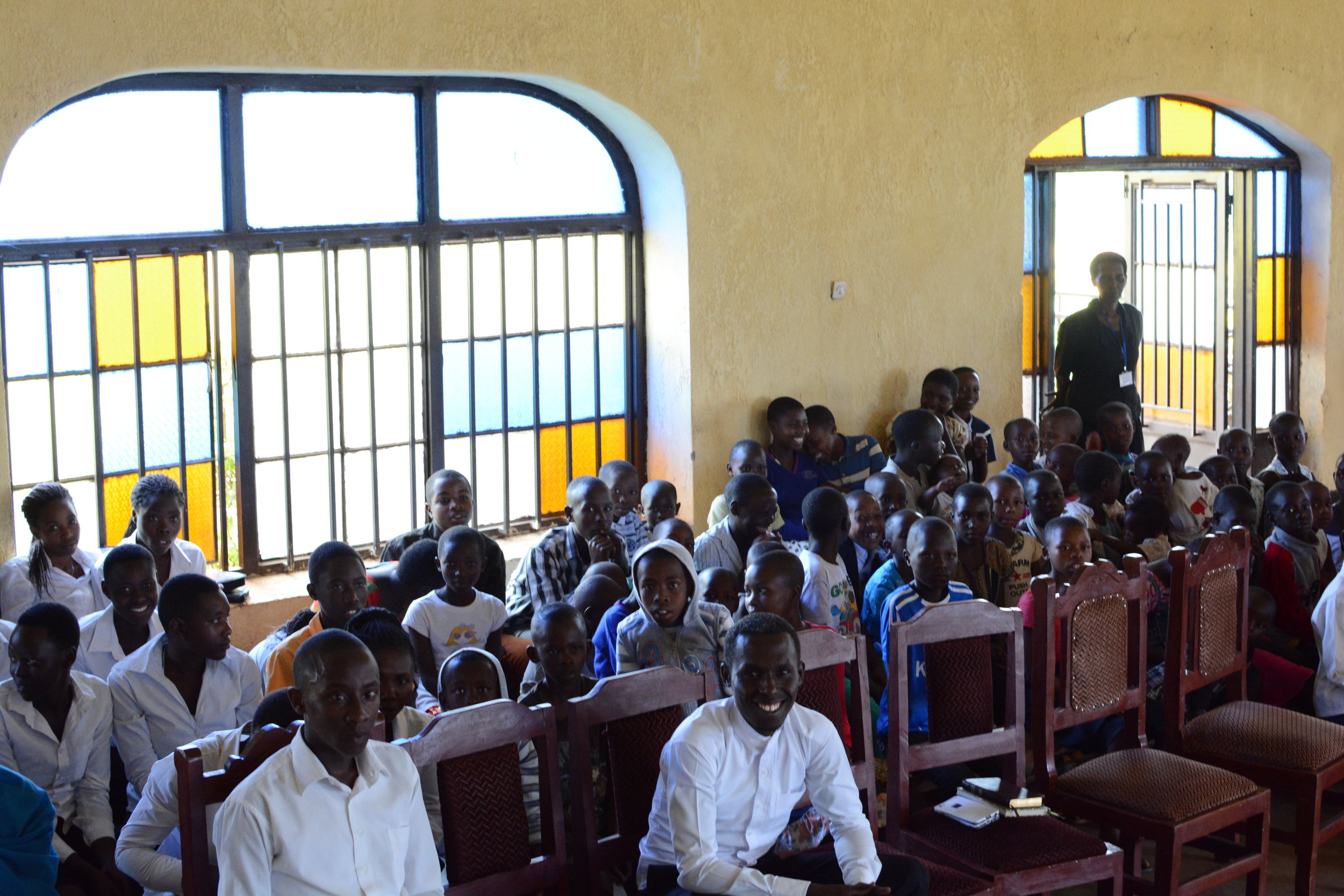 Young members of the congregation