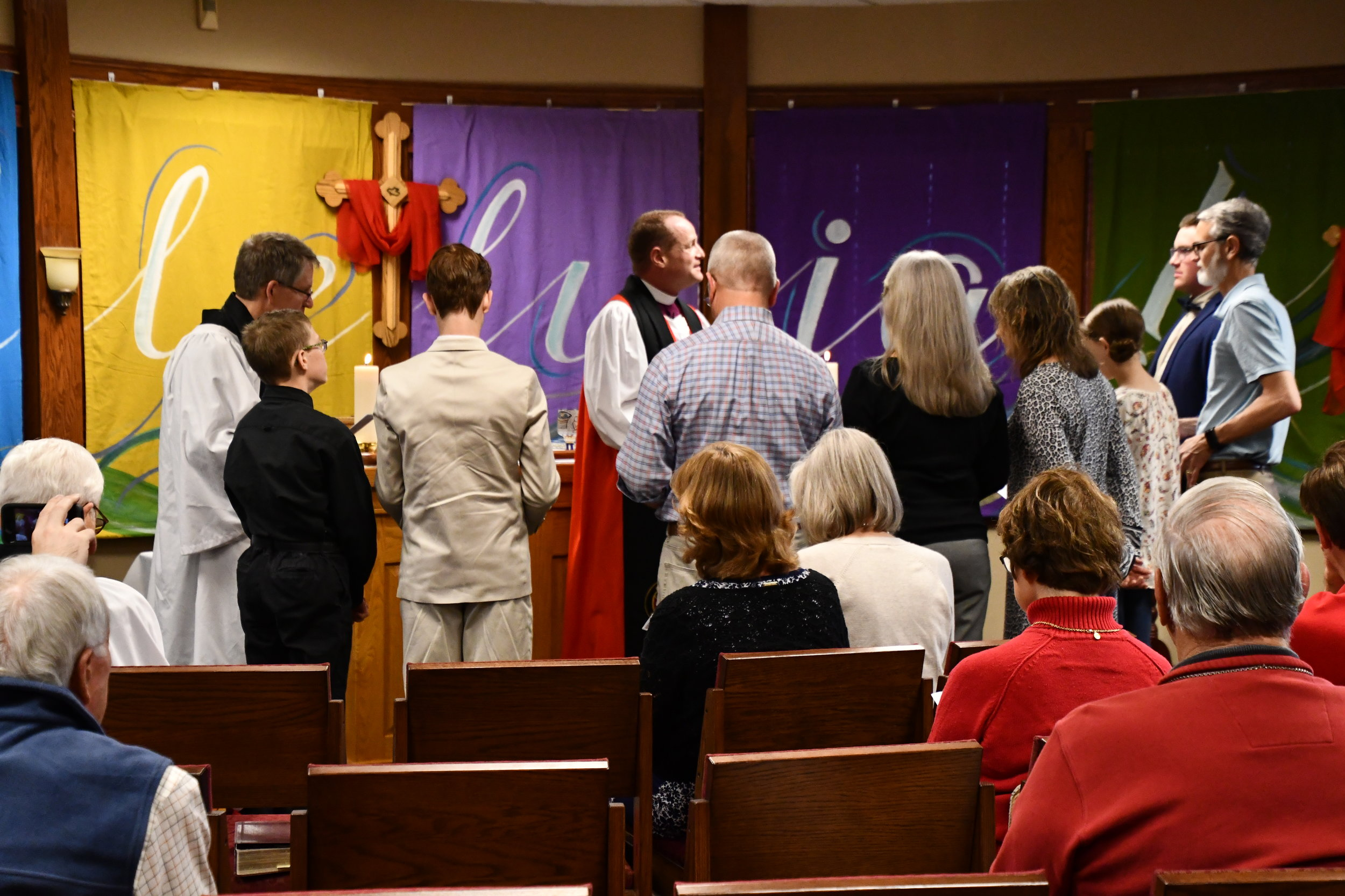 Confirmation is a powerful service and experience officiated by Bishop Ken Ross.