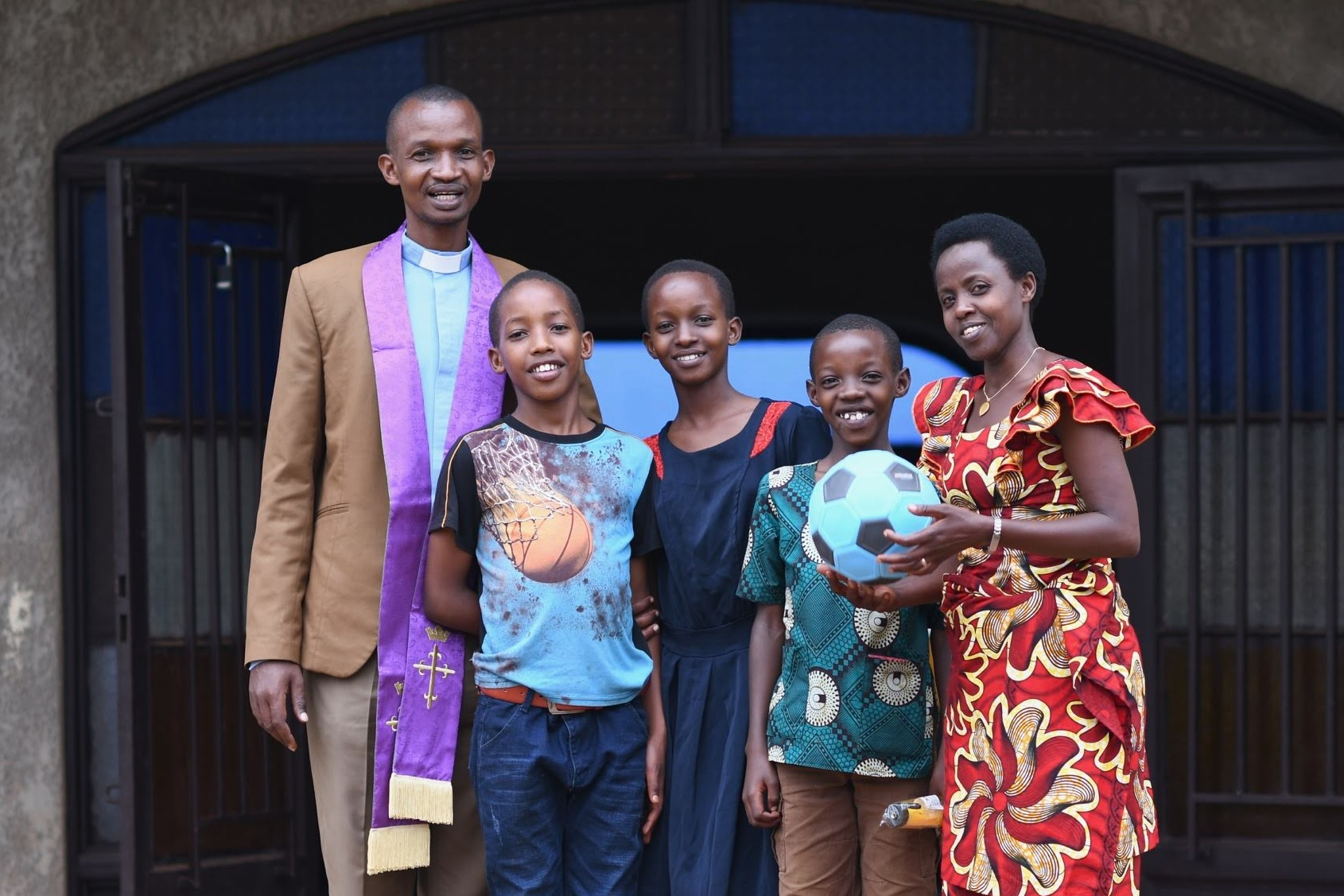 Pastor Xavier and his family