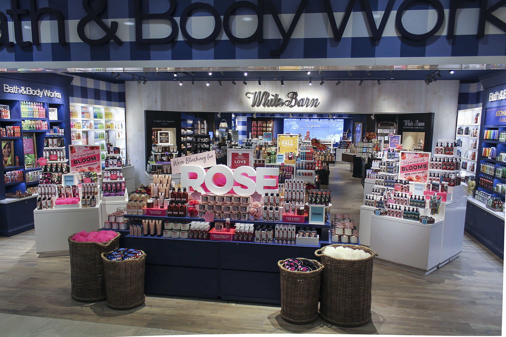 In Store Launch of Rose fragrance across body care and home fragrance.