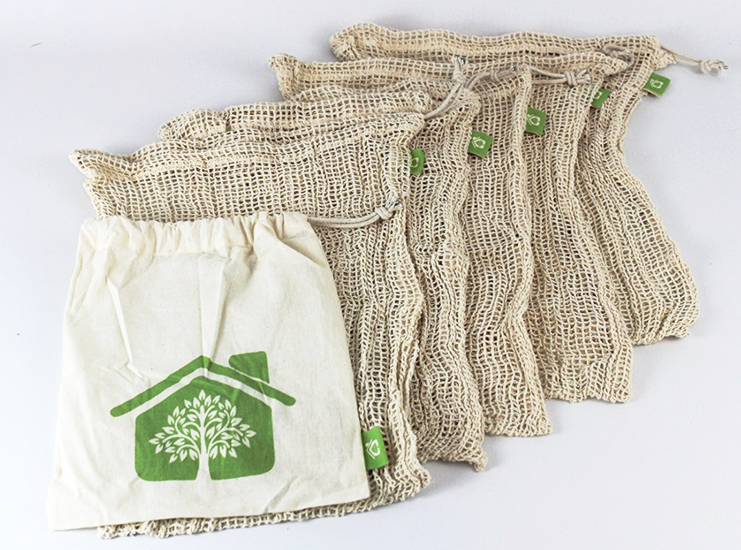 - Reusable produce bags are a great way to cut down cheap plastic waste.