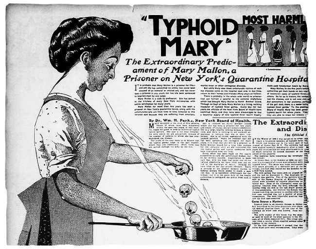 """Oh Mary! - Devastatingly, Mary Mallon spent nearly 30 years in isolation because she was unwilling to stop being a cook. Born in the 1880's, she could not fathom that she was a """"carrier"""" of a disease she did not herself suffer from. With emerging diseases and pathogens, this is still a forlorn issue in 2017."""