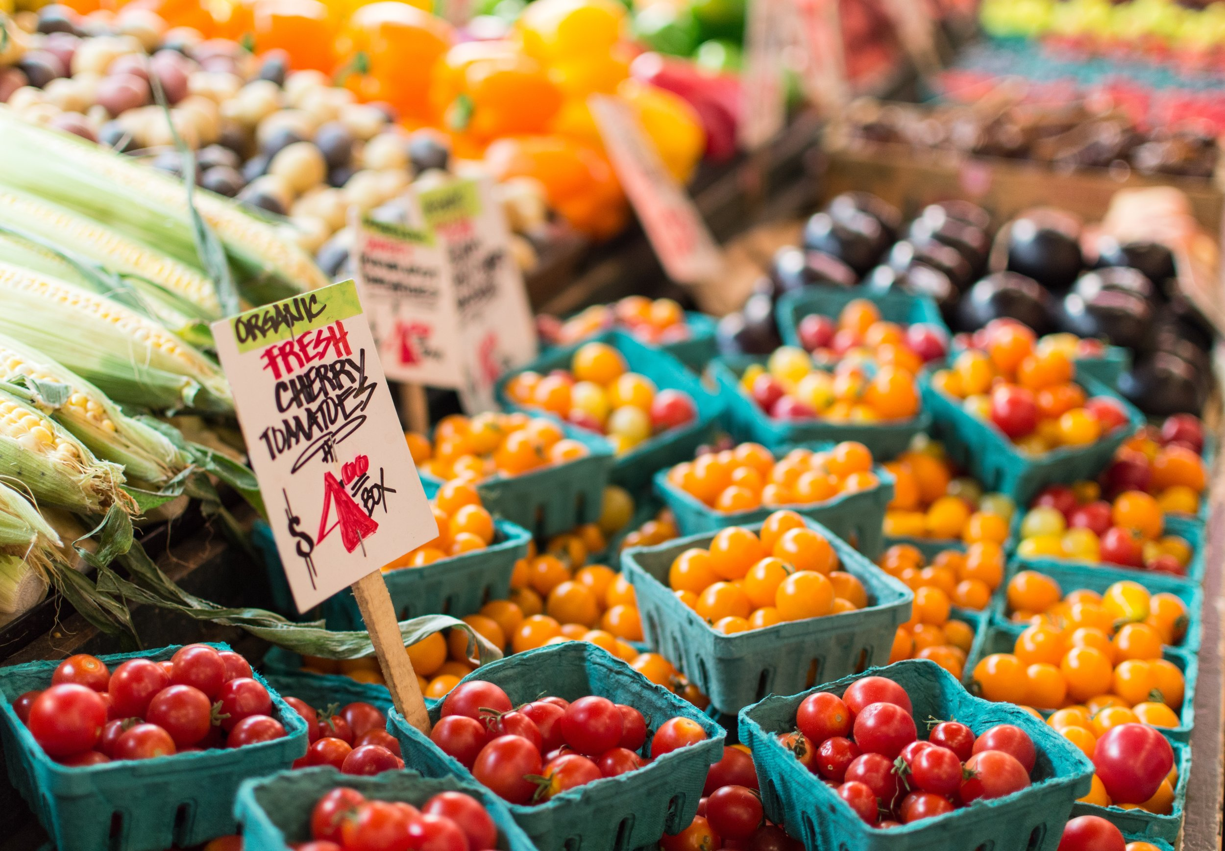 Shopping at your local farmers' market is a unique opportunity to engage and become familiar with the food culture in your town. Source: Unsplash.com